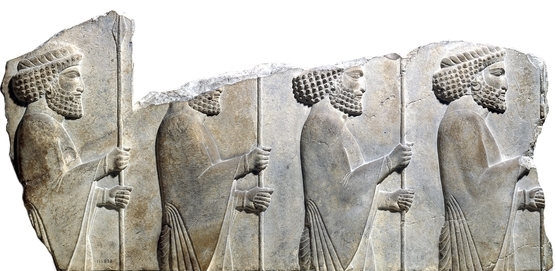 Stone relief from the Apadana (audience hall) at Persepolis 6th-5th century BCE